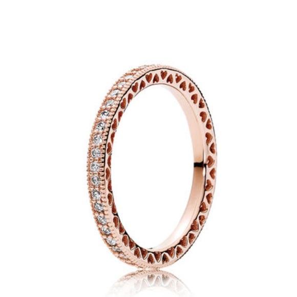 9db712fd2 Pandora Jewelry   Rose Gold New Ring Size 8558   Poshmark